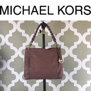 Beautiful Michael Kors Mauve Pebbled Leather Hobo